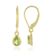 9K Kashmir Peridot Gold Earrings