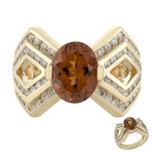 18K Orange Tourmaline Gold Ring (de Melo)