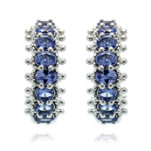 Tanzanite Silver Earrings (Dallas Prince Designs)