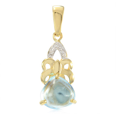 9K Sao Domingos Aquamarine Gold Pendant