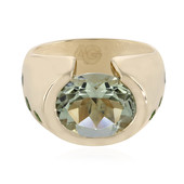 9K Green Amethyst Gold Ring (Adela Gold)