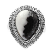 White Buffalo Dolomite Silver Ring