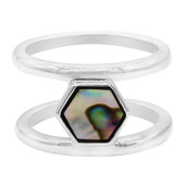 Abalone Shell Silver Ring