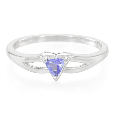 Unheated Tanzanite Silver Ring (Cavill)