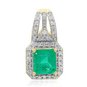 18K Colombian Emerald Gold Pendant