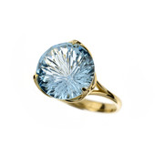 9K Blue Topaz Gold Ring