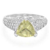 Lemon Citrine Silver Ring