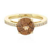 18K Cognac Zircon Gold Ring