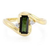 9K Olive Tourmaline Gold Ring