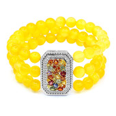 Yellow Agate Silver Bracelet (Dallas Prince Designs)