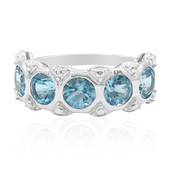 Swiss Blue Topaz Silver Ring (Remy Rotenier)