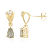 18K Unheated Sapphire Gold Earrings