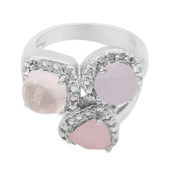 Rose Quartz Silver Ring