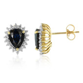 9K Inverell Sapphire Gold Earrings