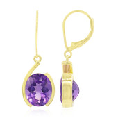 Zambian Amethyst Silver Earrings