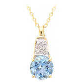 18K Santa Maria Aquamarine Gold Necklace
