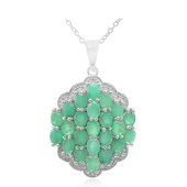 Emerald Silver Necklace
