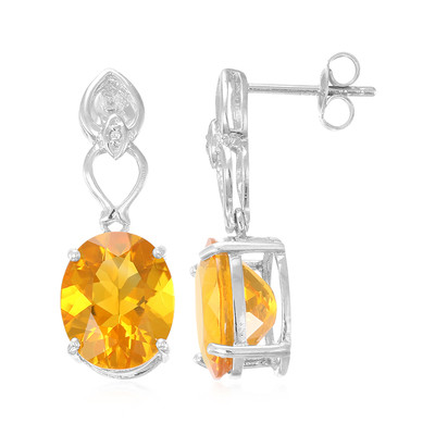 Buriti Fire Opal Silver Earrings