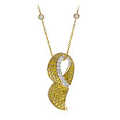 14K SI2 Yellow Diamond Gold Necklace (CIRARI)