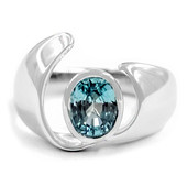 Ratanakiri Zircon Silver Ring (MONOSONO COLLECTION)