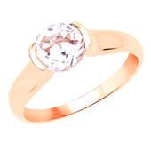 9K AAA Brazilian Morganite Gold Ring
