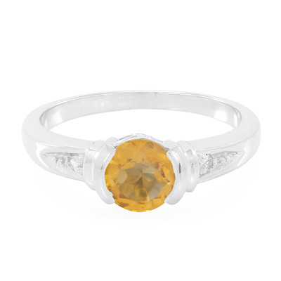 Citrine Silver Ring