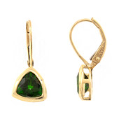 9K Russian Diopside Gold Earrings