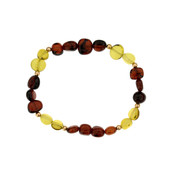 Colombian red Amber Silver Bracelet