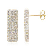 10K White Sapphire Gold Earrings