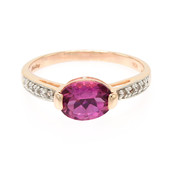 10K AAA Pink Tourmaline Gold Ring (Molloy)
