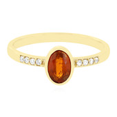 9K Tanzanian Orange Kyanite Gold Ring