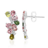 Fancy Tourmaline Silver Earrings