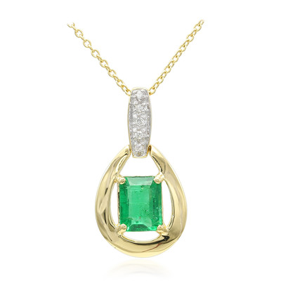 18K Ethiopian Emerald Gold Necklace (AMAYANI)