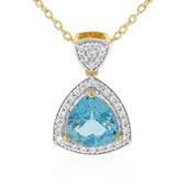 Swiss Blue Topaz Silver Necklace