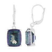 Mystic Blue Quartz Silver Earrings