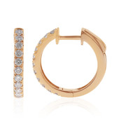 14K SI Pink Diamond Gold Earrings (CIRARI)