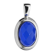 Colombian blue Amber Silver Pendant