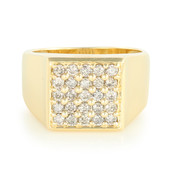 9K Champagne Diamond Gold Ring