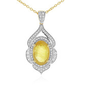 Madagascar Yellow Sapphire Silver Necklace