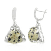 Dalmatian Jasper Silver Earrings