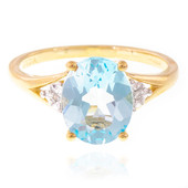 9K Sky Blue Topaz Gold Ring