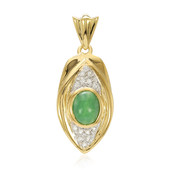 Imperial Chrysoprase Silver Pendant