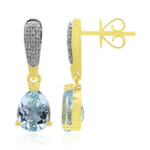 9K Medina Aquamarine Gold Earrings