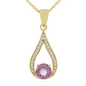 18K Pink Burmese Spinel Gold Necklace