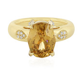 18K Champagne Zircon Gold Ring