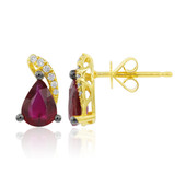 18K AAA Mozambique Ruby Gold Earrings (CIRARI)
