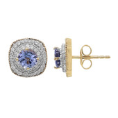9K Tanzanite Gold Earrings