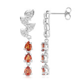 Malawi Ruby Silver Earrings (Cavill)