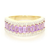 14K Unheated Ceylon Purple Sapphire Gold Ring (Lance Fischer)
