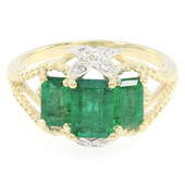 9K Bahia Emerald Gold Ring